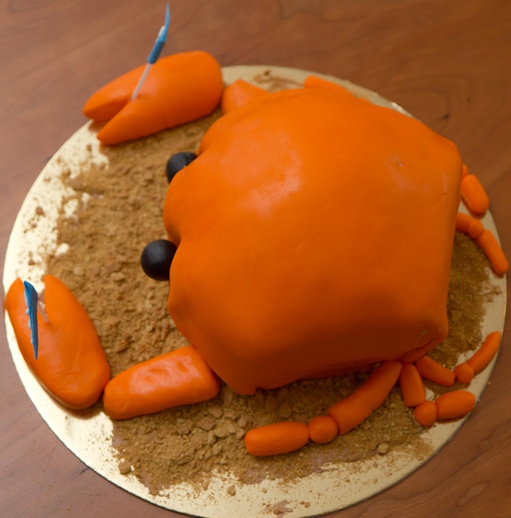 Crab Birthday Cake