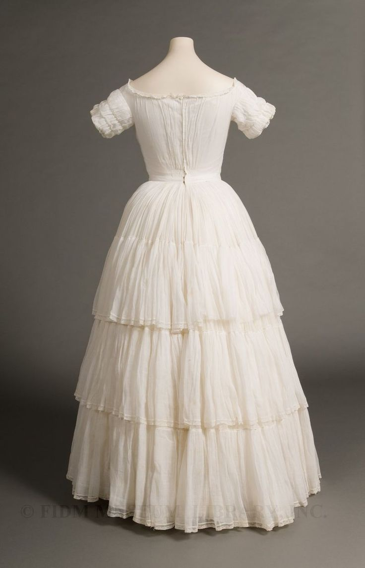 Muslin dress, c. 1845