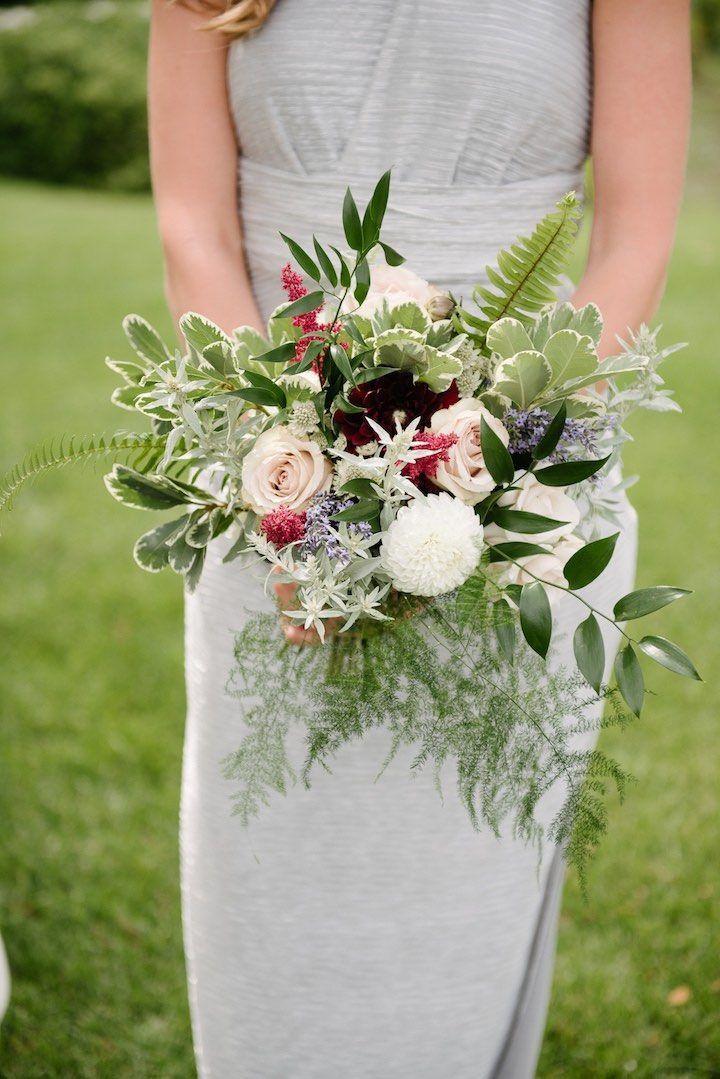 Bridesmaids bouquet by Dark + Diamond Floral Design.