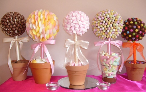 Candy trees for center pieces?