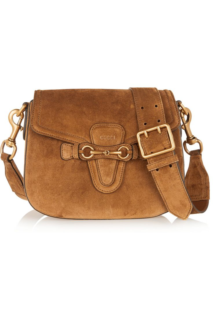 Gucci | Lady Web medium suede shoulder bag