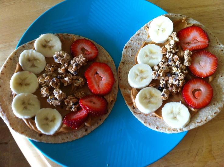 Healthy snack/breakfast wrap