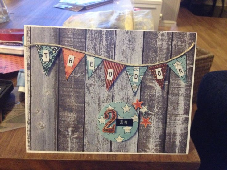 Birthdaycard / bursdagskort/ vimpler/ DIY/ scrapping