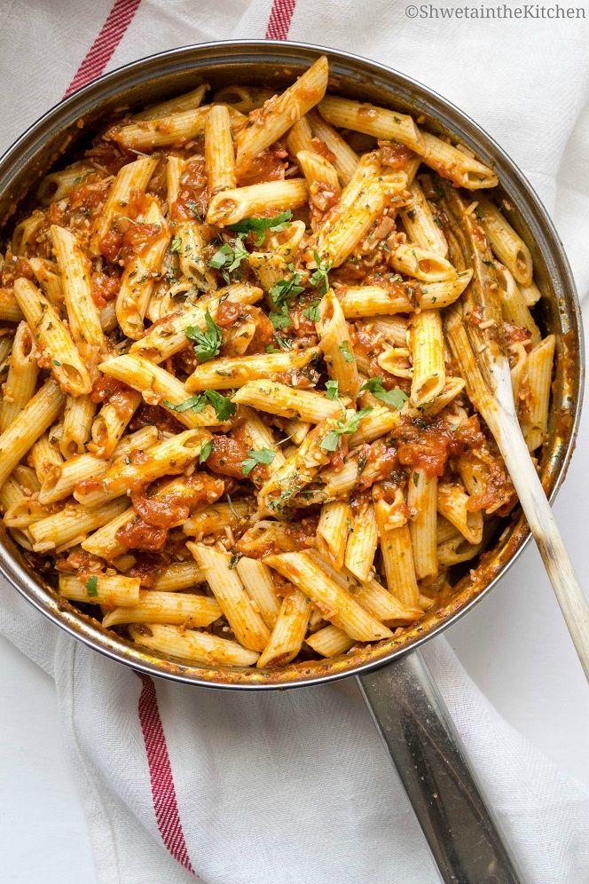 Shweta in the Kitchen: Arrabbiata Sauce Recipe - Spicy Pasta Sauce - Penne Arrabbiata Recipe - Pasta Arrabbiata