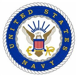 Great Notions Embroidery Design: UNITED STATES NAVY LOGO 6.00 inches H x 5.96 inches W