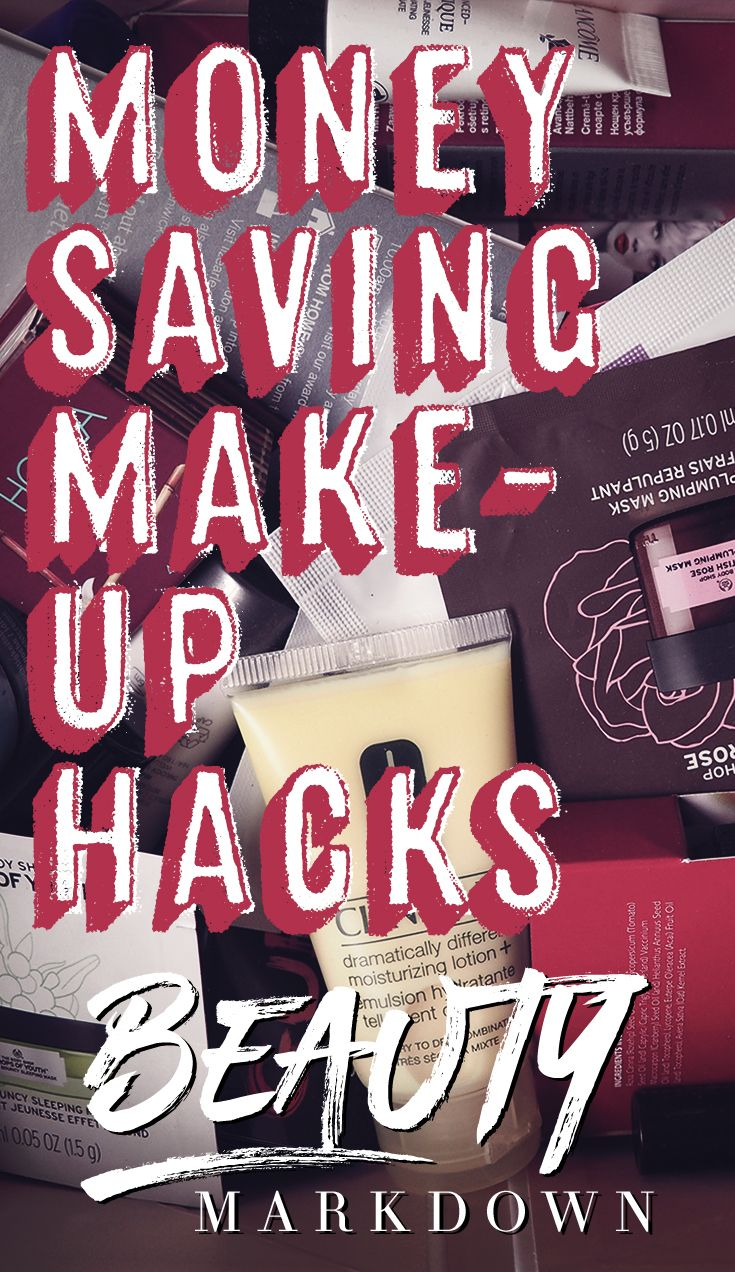 Need to know money saving makeup hacks.