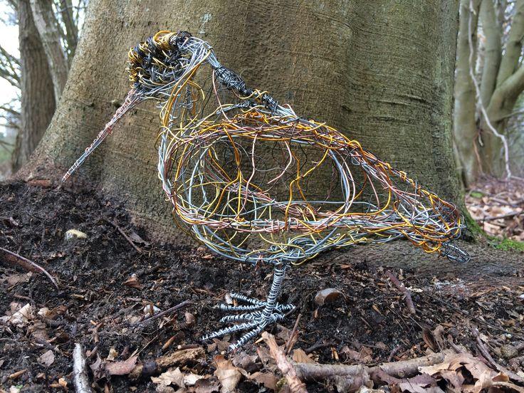 Wire Bird Sculpture Woodcock