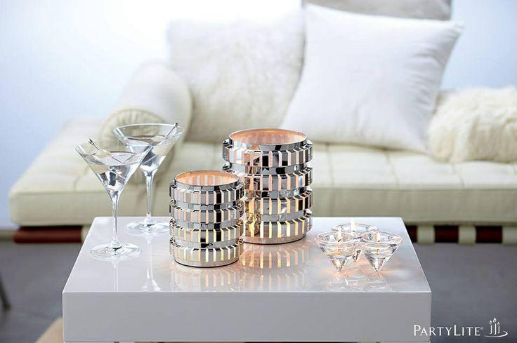Sternennächte! Kerzenhalter Minoko, mittel und Teelichthalter Diamanten. https://susannerentsch.partylite.ch/Shop