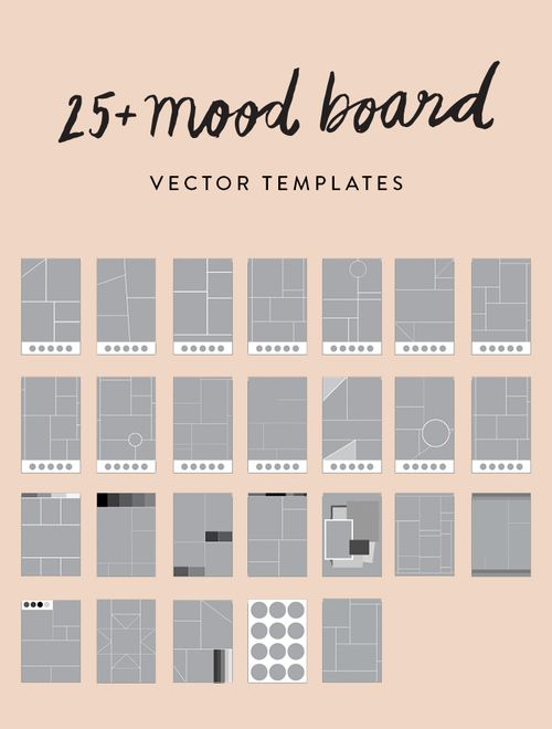 Best Mood Board Templates Images On   Mood Boards