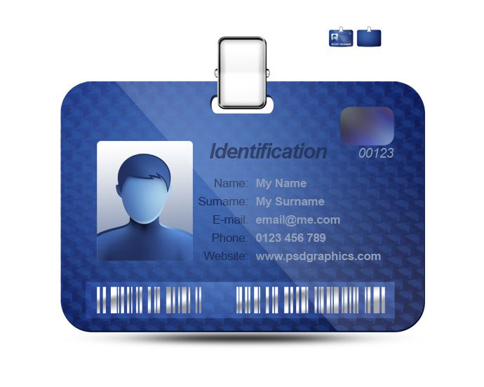 Best Id Card Design Images On   Name Badges Badge