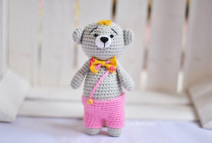 Crochet amigurumi bear stuffed animal,Toy Teddy Bear, Amigurumi Bear, Crochet Bear, Plush Teddy Bear by EMERENstore on Etsy