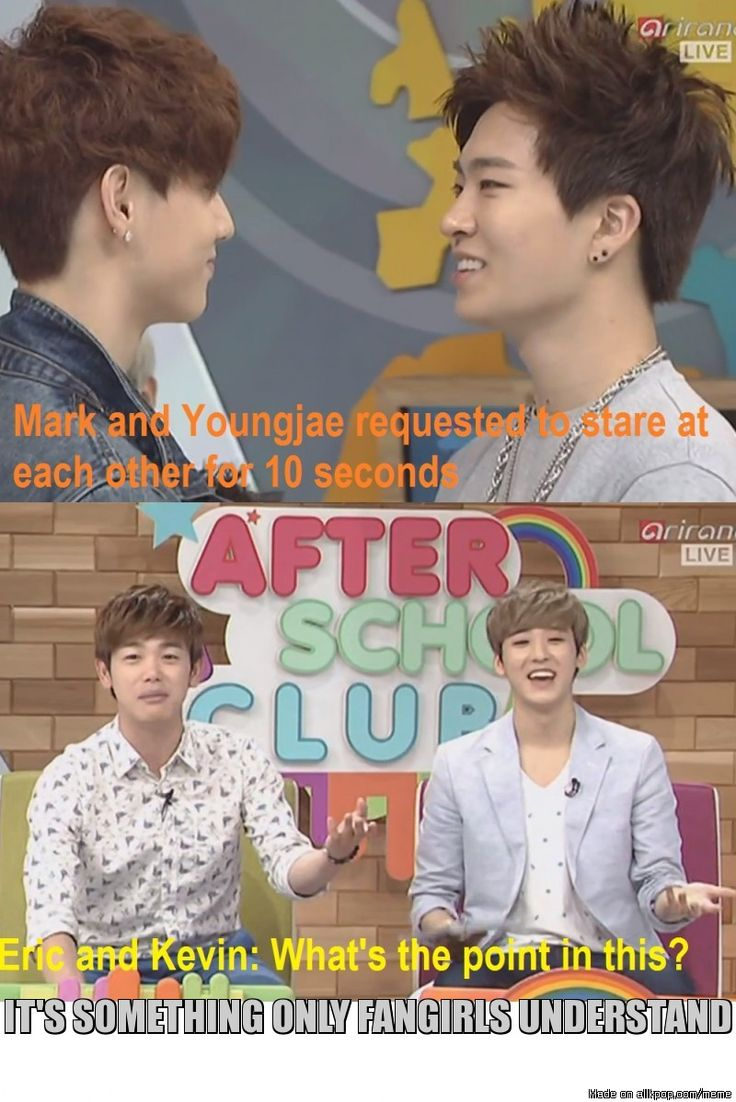 Mark and Yeongjae knows what's up *Wiggles Eyebrows* XD