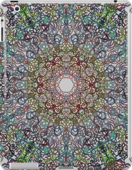 Spell 2 - Multiply by tuile  iPad case  spell kaleidoscope celtic faery fae magic flourish mandala zentangle symmetry artrage