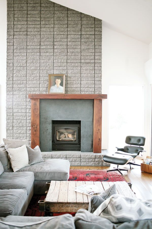 1000 images about fireplace on pinterest for Modern farmhouse fireplace
