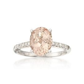 2.00 Carat Pink Morganite and .15 ct. t.w. Diamond Ring In Sterling Silver. Super Deal: $295.00