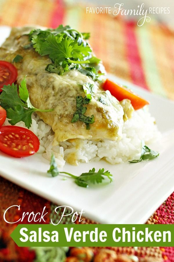 Only 3 ingredients and 3 minutes prep time... now THAT'S my kind of dinner! This Crock Pot Salsa Verde Chicken is so easy.. really, it is almost TOO easy.