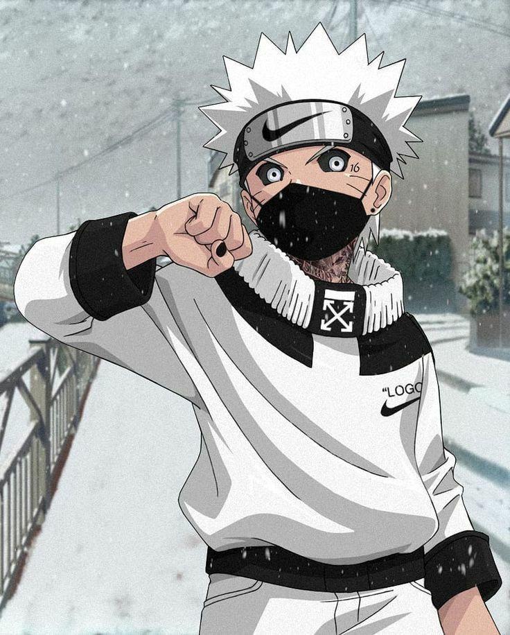 Naruto Nike Style In 2020 Gangsta Anime Naruto Uzumaki Art Anime Gangster