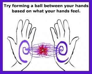 hand chakras' energy exercise. This works. I have tried it before. It is one of the first steps in learning to read auras.