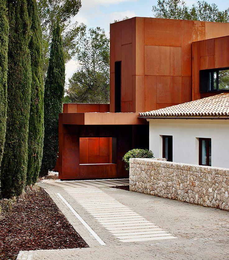 Entry corten volume places to visit pinterest - Acero corten fachadas ...