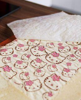 Gâteau Hello Kitty à la mousse de framboises