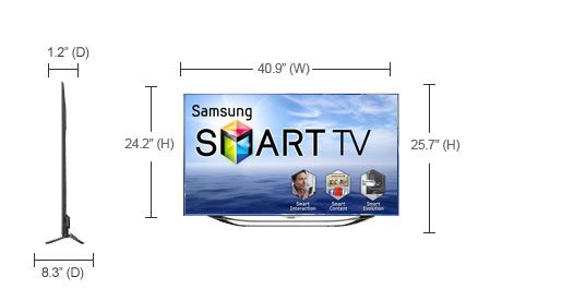 samsung 46inch es8000 smart tv samsung smart tvs. Black Bedroom Furniture Sets. Home Design Ideas