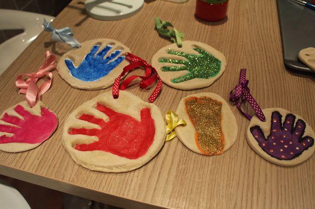 salt dough handprints diy
