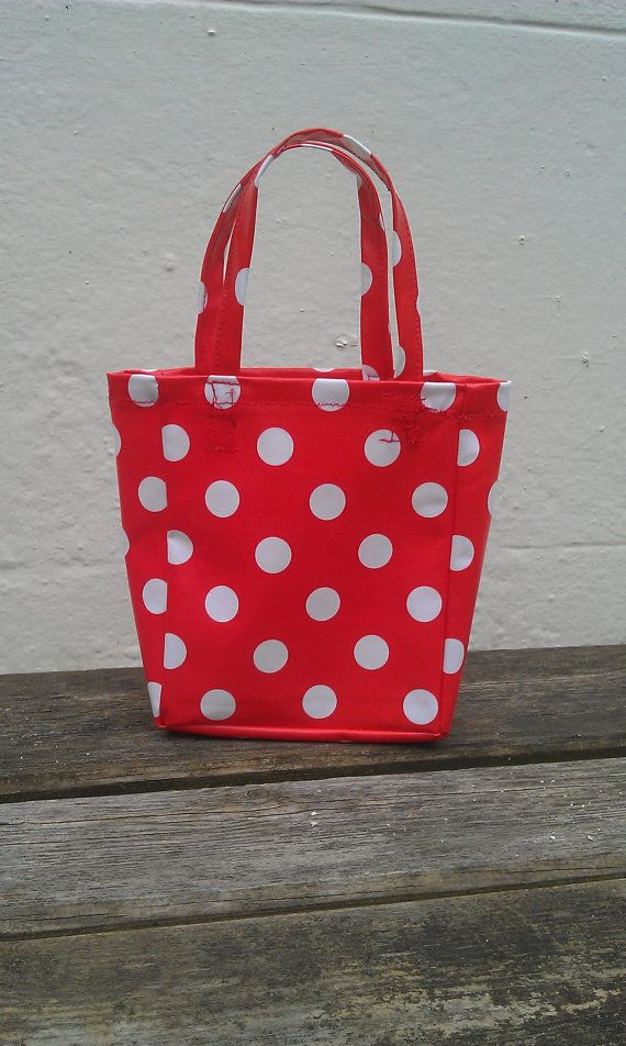 Hey, I found this really awesome Etsy listing at http://www.etsy.com/listing/95861844/childs-bag-red-polka-dot-made-to-order