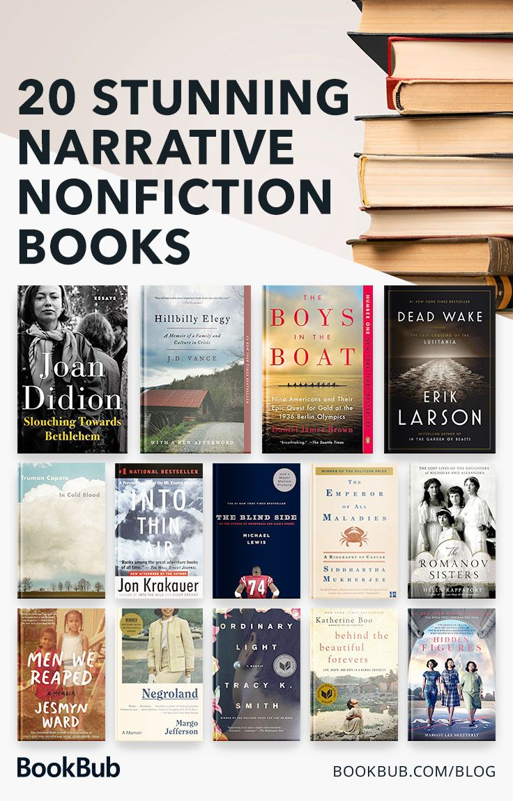 20 Nonfiction Books That Read Like Novels Nonfiction Books Book Club Books Books To Read Nonfiction