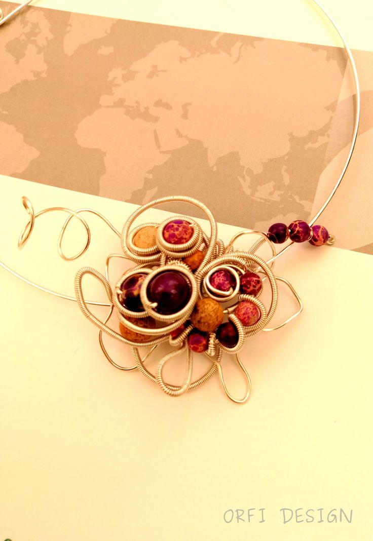 Purple wire necklace...