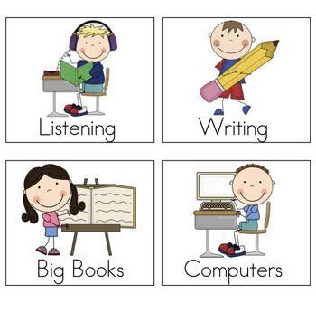 Literacy Center Management Board FREEBIE - Mrs. Ricca's Kindergarten - TeachersPayTeachers.com