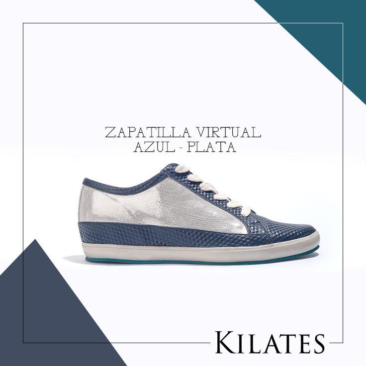 Zapatilla Virtual Azul - Plata