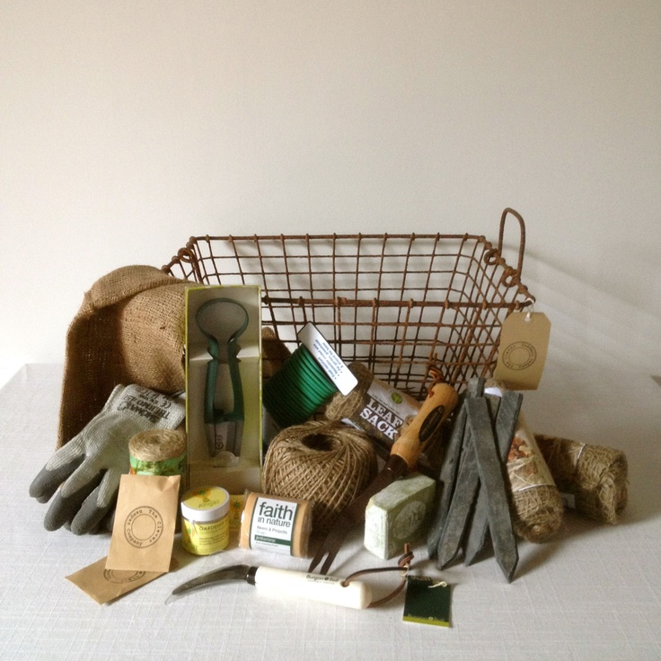 Antique oyster basket gardening hamper!