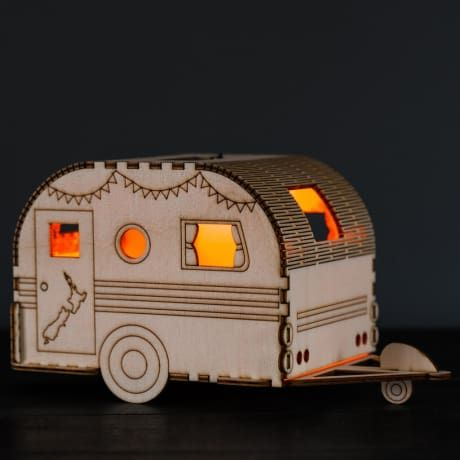 The Lumilight Retro Caravan is one of a collection of Alpine themed solar powered nightlights which make both a practical and attractive decoration for the home. Flat-packed and lightweight, the poplar wood caravan can be assembled quickly and easily (in approximately 5 minutes) and is easy and affordable to post making it an ideal gift for loved ones far and wide. Each Lumilight comes with a solar LED light unit, instructions and an information card. The solar light is long lasting and will…