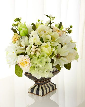 Cutting Garden White Centerpiece by MacKenzie-Childs at Neiman Marcus.