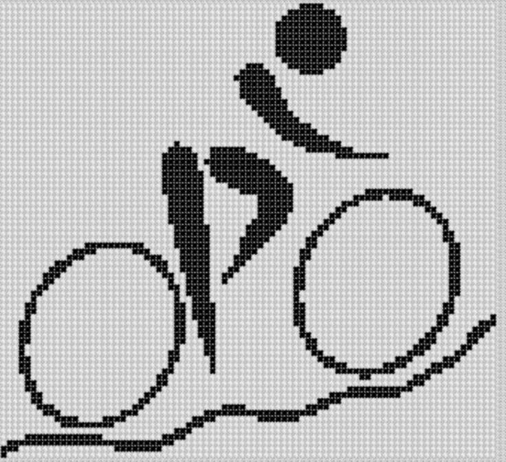 Mountain Bike Cross Stitch Pattern