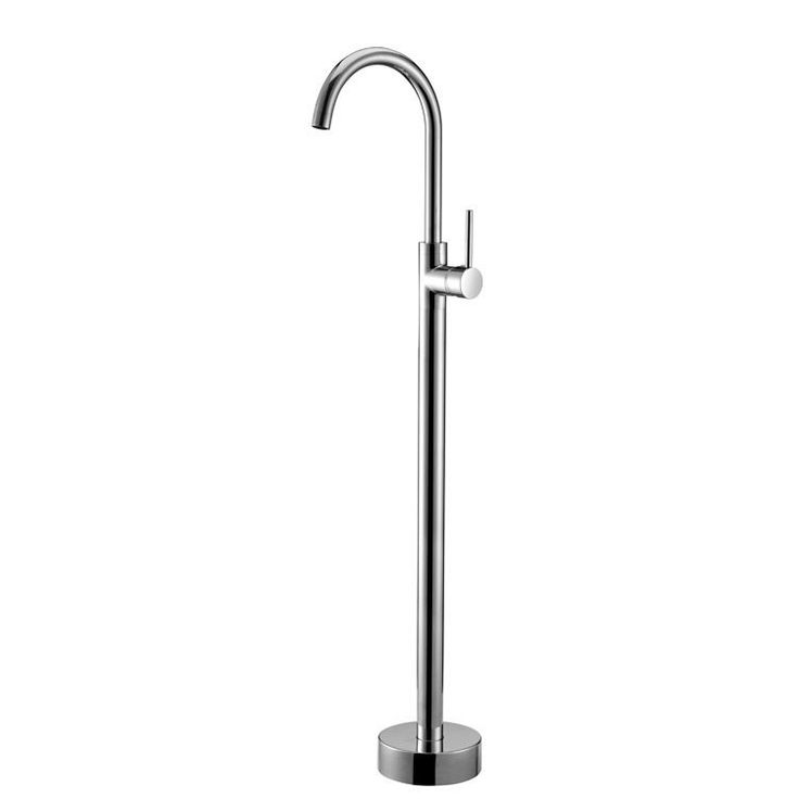 Modern Floor Mount Freestanding Bathtub Filler Mixer Tap in Chrome ...