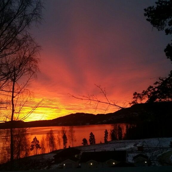 Norsjø ved Ulefoss,  Telemark