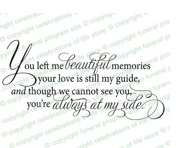For missing loved ones who've departed