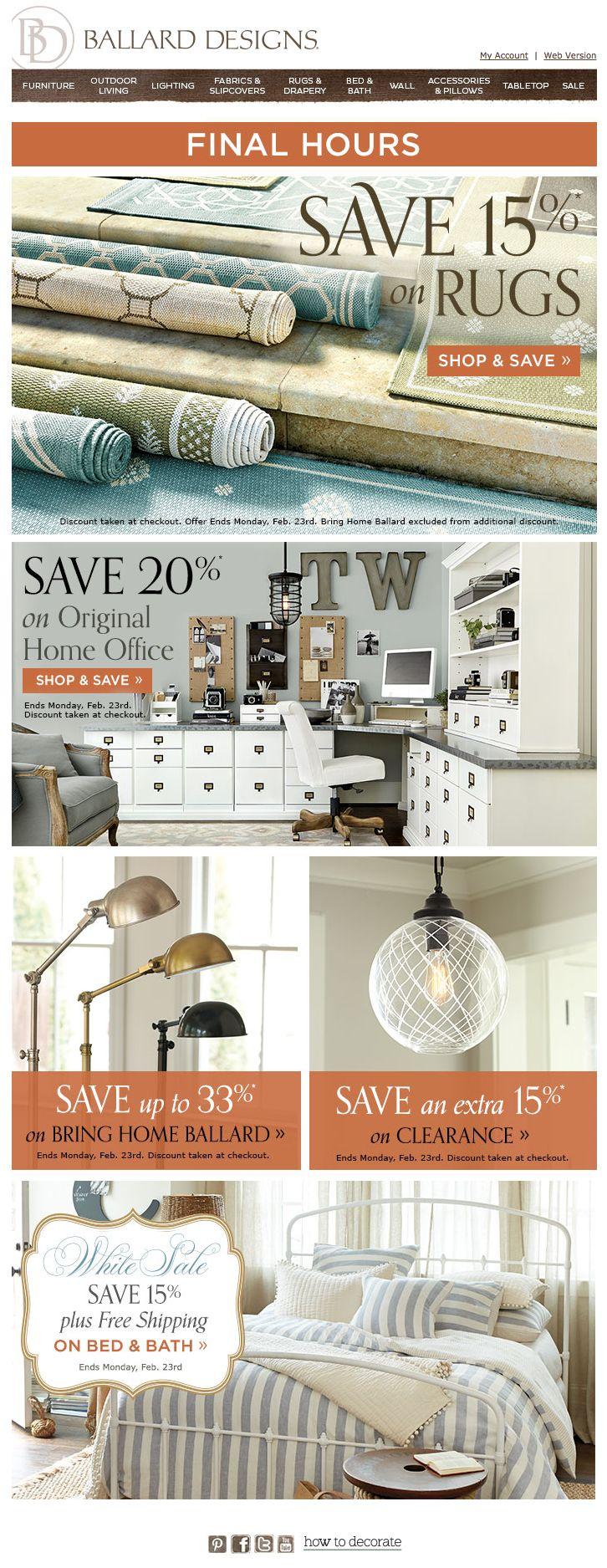 15 best email discount reminder images on pinterest email ballard designs email