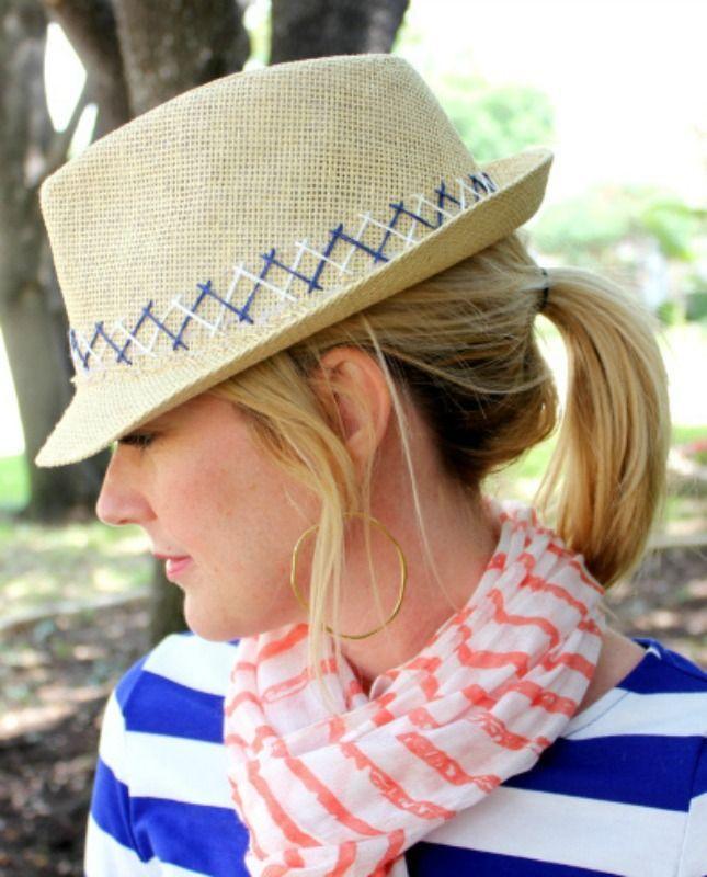 10 DIY Tutorials to Make the Perfect Summer Hat via Brit + Co