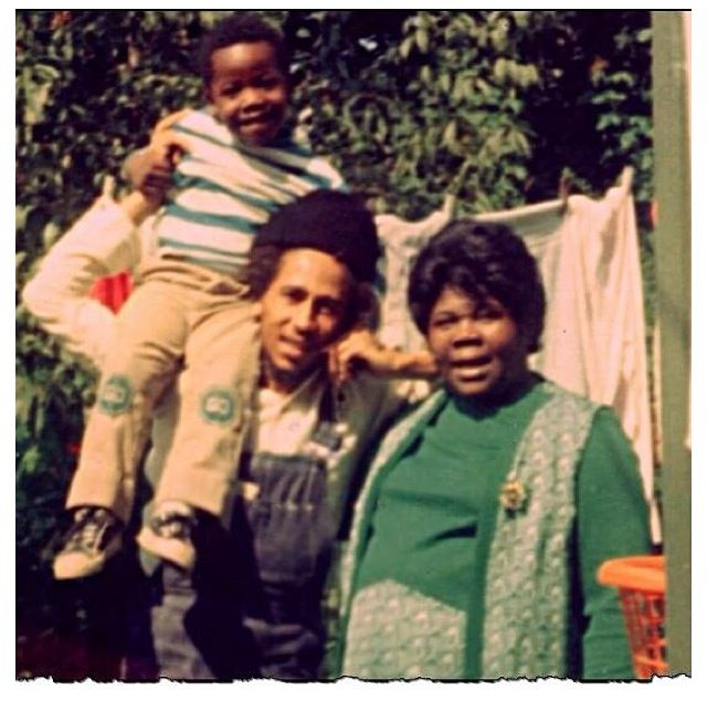 Bob Marley and his mother Cedella Marley