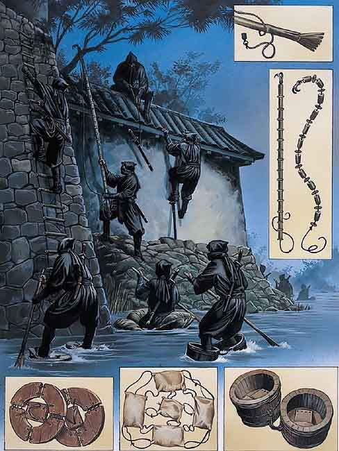 Ninja on campaign: Entering a castle