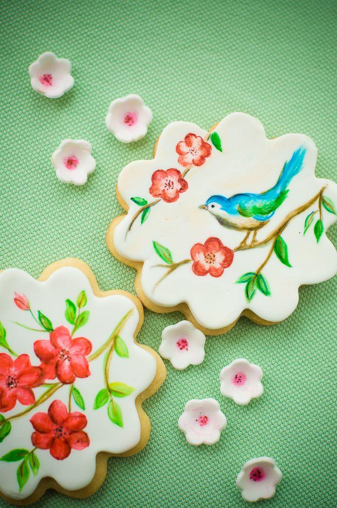 Beautiful painted cookies by Lulu's Sweet Secrets