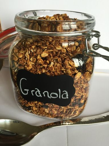 This gluten free granola recipe has no added sugar and is a perfect topping to yogurt, as an additional crunch to oatmeal, or even as a wonderful snack!