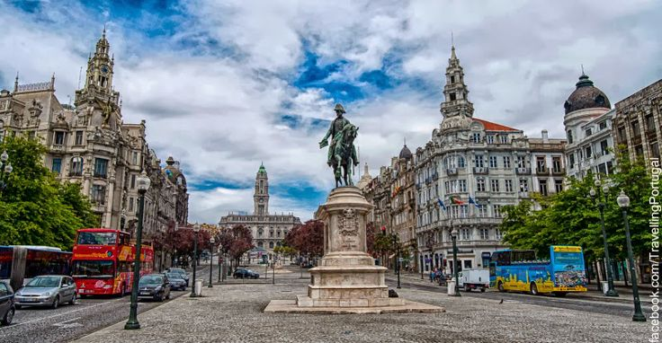 Avenida dos Aliados y Praça da Liberdade en el centro de Oporto   Portugal Turismo