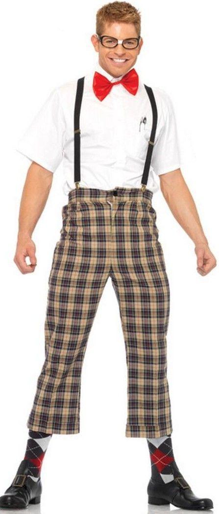 MENS GEEK COSTUME - NERD OUTFIT - FANCY DRESS DORK COSTUME - FUNNY NERDS OUTFITS U0026 JOKE GEEKS ...