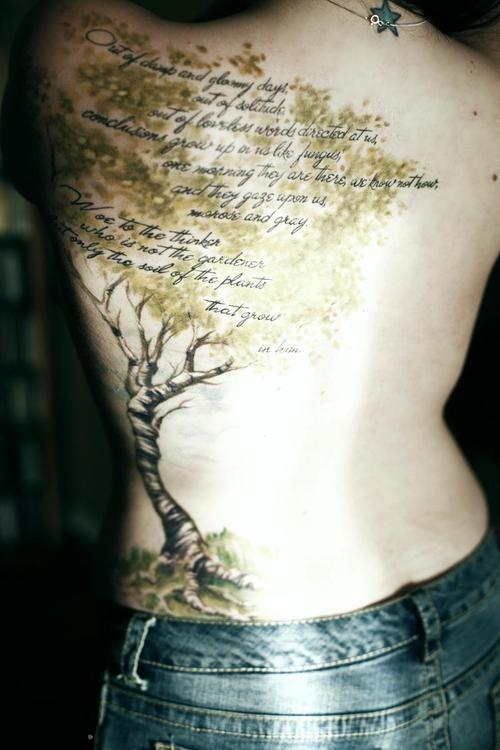 Very interesting tree tattoo