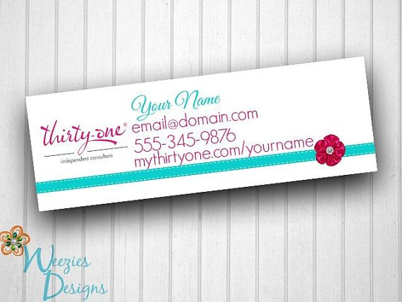 Thirty One Catalog Label by WeeziesDesigns $8.00