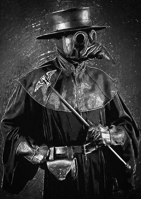 Plague Doctor , Art Print in 2019