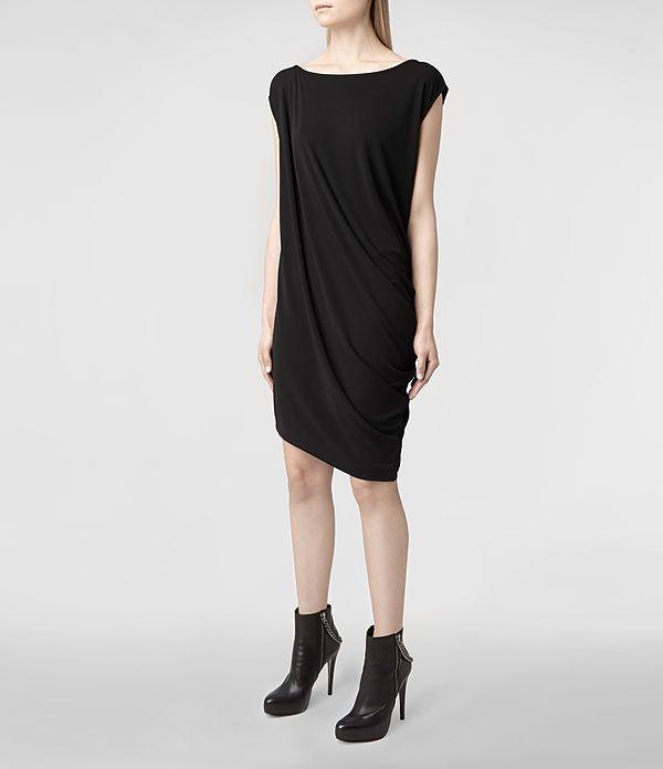 Womens Ally Dress (Black) | ALLSAINTS.com